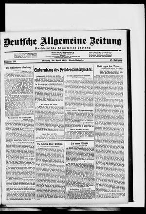 Deutsche allgemeine Zeitung vom 28.04.1919