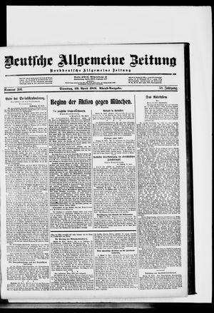 Deutsche allgemeine Zeitung vom 29.04.1919