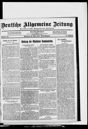Deutsche allgemeine Zeitung vom 30.04.1919
