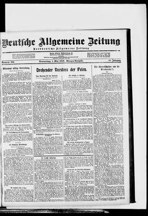 Deutsche allgemeine Zeitung on May 1, 1919