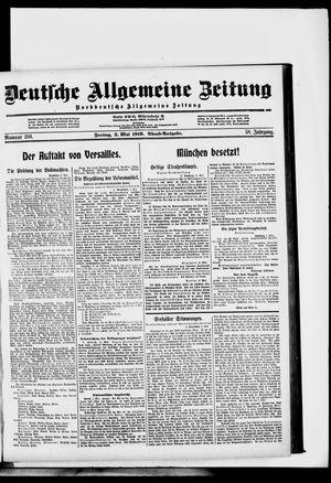 Deutsche allgemeine Zeitung on May 2, 1919