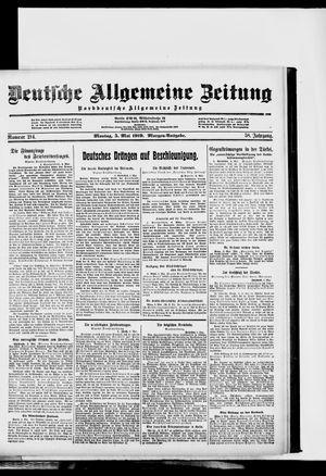 Deutsche allgemeine Zeitung vom 05.05.1919
