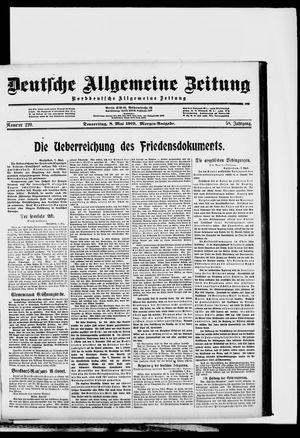 Deutsche allgemeine Zeitung vom 08.05.1919