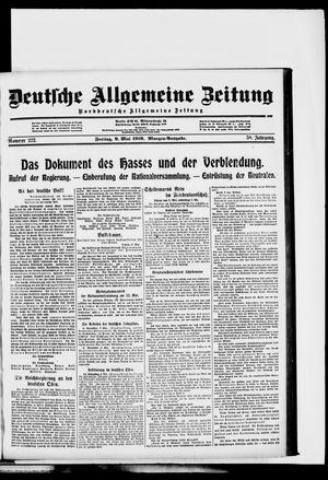 Deutsche allgemeine Zeitung vom 09.05.1919