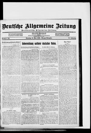 Deutsche allgemeine Zeitung vom 11.05.1919
