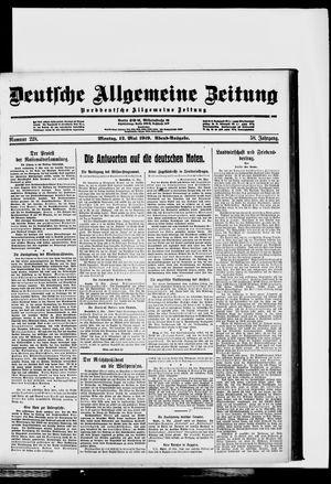 Deutsche allgemeine Zeitung vom 12.05.1919
