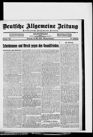 Deutsche allgemeine Zeitung vom 13.05.1919