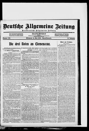 Deutsche allgemeine Zeitung vom 14.05.1919