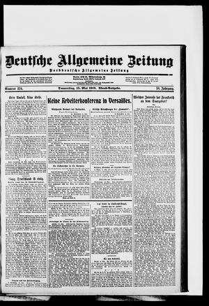 Deutsche allgemeine Zeitung vom 15.05.1919