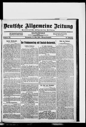 Deutsche allgemeine Zeitung vom 17.05.1919