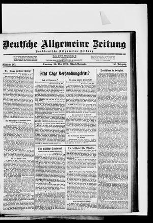 Deutsche allgemeine Zeitung vom 20.05.1919