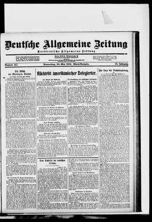 Deutsche allgemeine Zeitung vom 22.05.1919