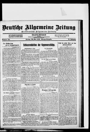 Deutsche allgemeine Zeitung vom 23.05.1919