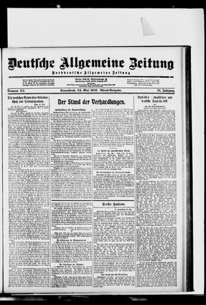 Deutsche allgemeine Zeitung vom 24.05.1919