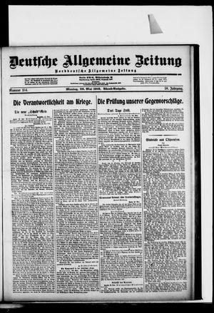 Deutsche allgemeine Zeitung vom 26.05.1919