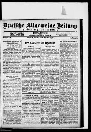Deutsche allgemeine Zeitung vom 28.05.1919