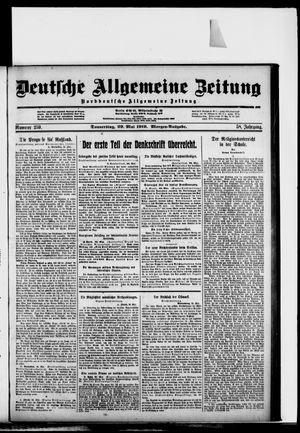Deutsche allgemeine Zeitung vom 29.05.1919