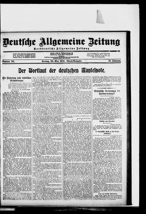 Deutsche allgemeine Zeitung vom 30.05.1919