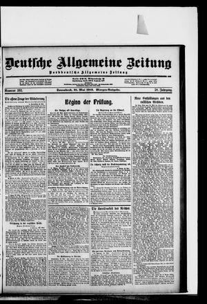 Deutsche allgemeine Zeitung vom 31.05.1919