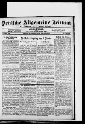 Deutsche allgemeine Zeitung vom 31.12.1919