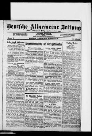 Deutsche allgemeine Zeitung vom 01.01.1920