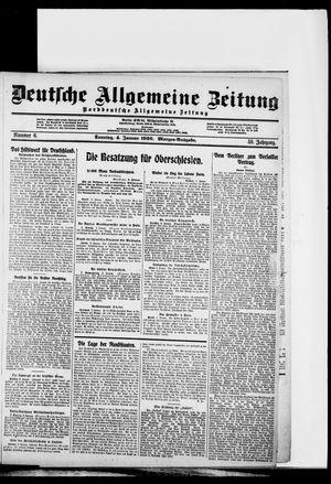 Deutsche allgemeine Zeitung vom 04.01.1920
