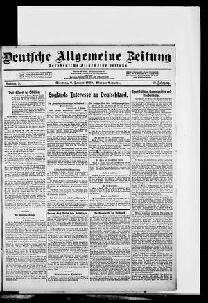 Deutsche allgemeine Zeitung vom 06.01.1920