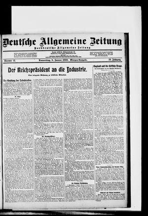 Deutsche allgemeine Zeitung vom 08.01.1920