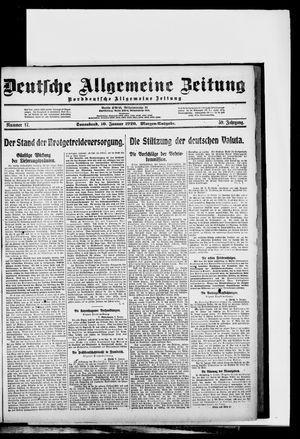 Deutsche allgemeine Zeitung on Jan 10, 1920