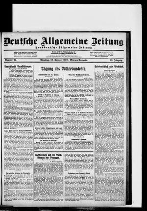 Deutsche allgemeine Zeitung vom 13.01.1920