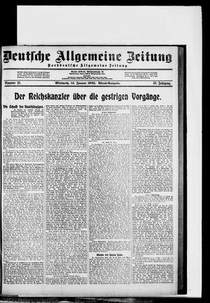 Deutsche allgemeine Zeitung vom 14.01.1920