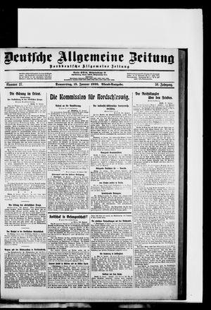 Deutsche allgemeine Zeitung vom 15.01.1920