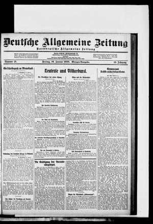 Deutsche allgemeine Zeitung vom 16.01.1920