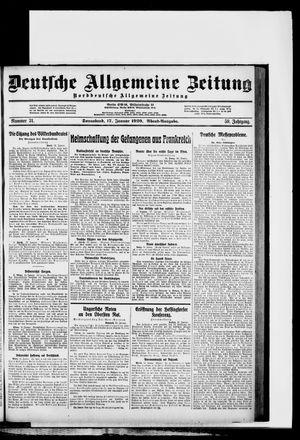 Deutsche allgemeine Zeitung vom 17.01.1920