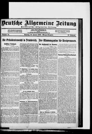 Deutsche allgemeine Zeitung vom 18.01.1920