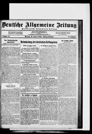 Deutsche allgemeine Zeitung vom 19.01.1920