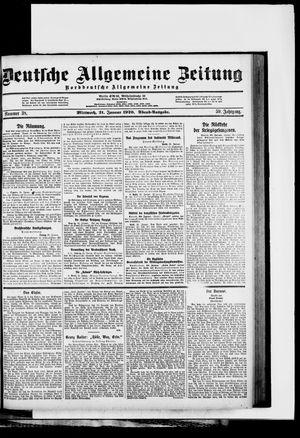 Deutsche allgemeine Zeitung vom 21.01.1920