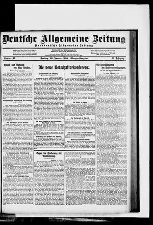 Deutsche allgemeine Zeitung vom 23.01.1920