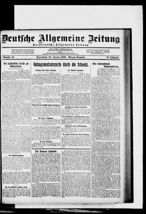 Deutsche allgemeine Zeitung vom 24.01.1920