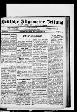 Deutsche allgemeine Zeitung vom 29.01.1920