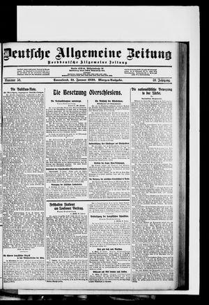 Deutsche allgemeine Zeitung vom 31.01.1920