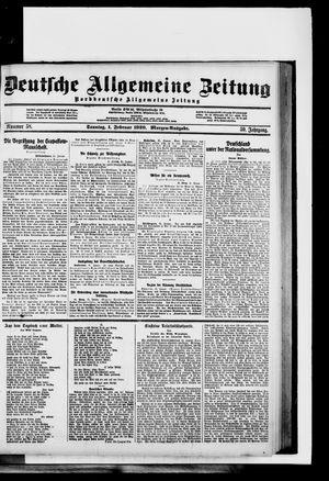 Deutsche allgemeine Zeitung vom 01.02.1920