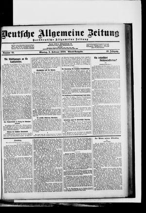 Deutsche allgemeine Zeitung on Feb 2, 1920