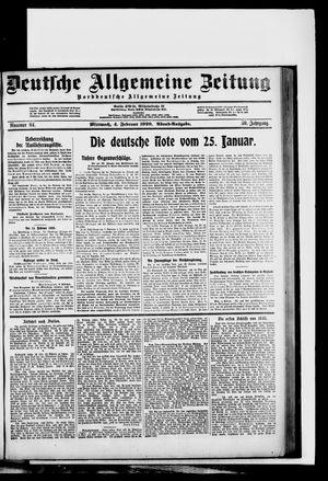 Deutsche allgemeine Zeitung vom 04.02.1920