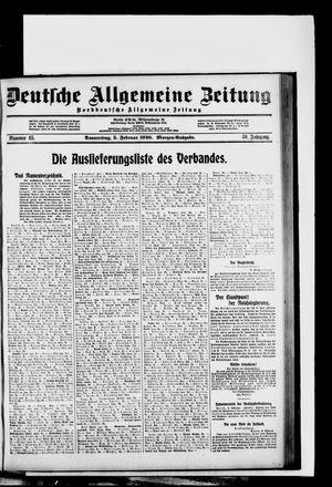 Deutsche allgemeine Zeitung vom 05.02.1920