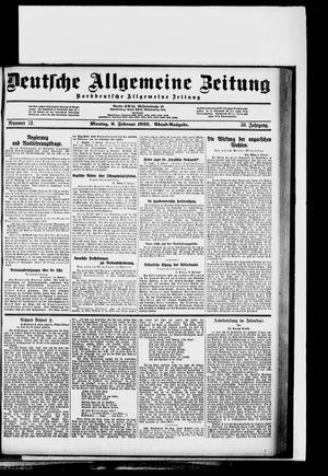 Deutsche allgemeine Zeitung vom 09.02.1920