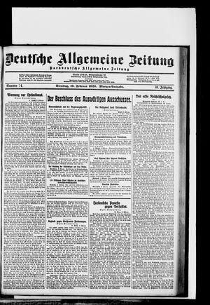 Deutsche allgemeine Zeitung vom 10.02.1920