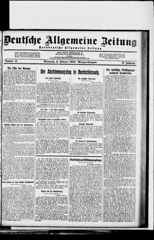 Deutsche allgemeine Zeitung vom 11.02.1920