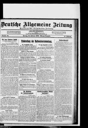 Deutsche allgemeine Zeitung vom 13.02.1920