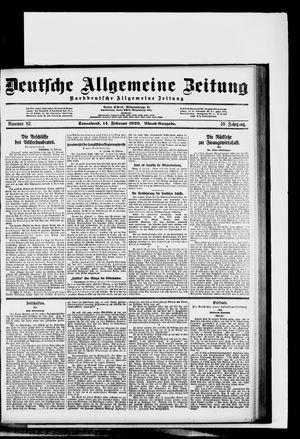 Deutsche allgemeine Zeitung on Feb 14, 1920